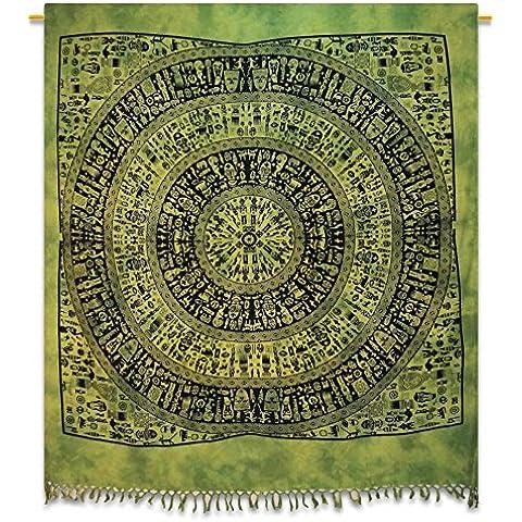 Dimensioni lenzuola di cotone Handicrunch Verde Mandala