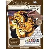Royal & Langnickel PCS3 - Malen nach Zahlen Künstler Leinwand Serie - Löwe & Löwin Small