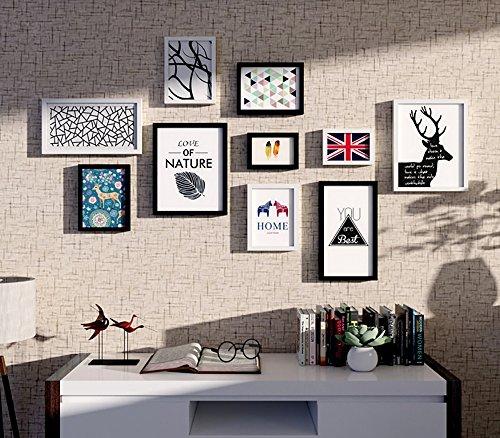 Limiz Cornice per foto in legno bianco e nero semplice foto moderna ...