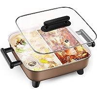 XJIANQI Vaisselle Électrique Portable Intérieur Hot Pot Réchauds, 6L Grande Capacité des Ménages Multifonctions…