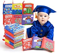 BeebeeRun Cloth Books Baby Toy, 6 Set My First Non-Toxic Soft Clothing Book Educational Toys Gifts for 1 Year