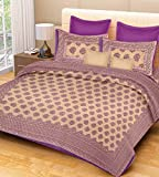 #5: PURE COMFORT Double Bedsheet with 2 Pillow Covers- Purple