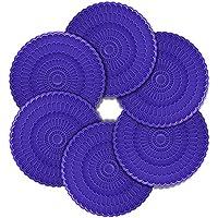Zanmini Posavasos Silicona Seguros para Alimentos Estera de Taza Colección de 6 colores