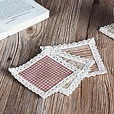 Start Europäische Baumwolle wärme Wasserkocher cup Pad square Esstisch saugfähigen Hitzebeständige platte Geschirrspüler, Miguel