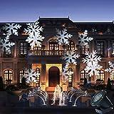 GAXmi LED Paysage Spotlights Fée Motif de flocon de neige Jardin mur Noël Mariage De plein air ...