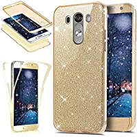 Funda LG G4,Carcasa LG G4,KunyFond Case TPU Completo De Proteccion Frontal y Trasera 360 Grados Silicona 3 en 1 A Prueba de Golpes LG G4 Funda Purpurina ...