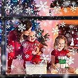 Weihnachtsdeko, Weihnachten Fensterdeko Set, DIY Weihnachtsdeko Schneeflocken Aufkleber Kinder, Winter Dekoration für Türen, Schaufenster, Vitrinen, Glasfronten, PVC Fensterdeko Set und mehr Test