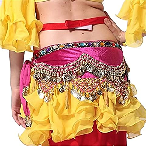Belly Dance Hip Scarf Skirt Hip Scarf With Gold Coins