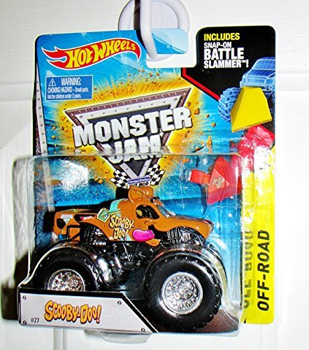 Hot Wheels Monster Jam Scooby-Doo #27 Monster Truck With Snap-On Battle Slammer Off-Road by Mattel
