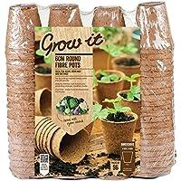 Grow it 08325 Round Fibre Pots, Multi-Colour, 6 cm