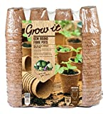 Grow it 08325 Round Fibre Pots, Multi-Colour, 6 cm