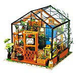 ROBOTIME Miniature 3d Greenhouse Craft Kits Dolls House with Furniture and Accessories Educational Toys for Girls