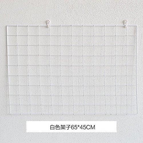 KINEJ Cadre Photo Grille de Mur à l'arrière-Plan, 65 * 45 White