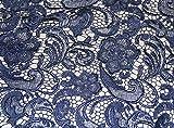 Marineblau Guipure-Blumen Brautschmuck/Hochzeit Kleid