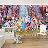 Kinderzimmer Tapeten - Vliestapeten Premium - Mia and Me - Mia und Onchao mit den Einhörnern von Centopia - Fototapete Breit Vlies Tapete Wandtapete Wandbild Foto 3D Fototapete, Größe HxB: 225cm x 336cm
