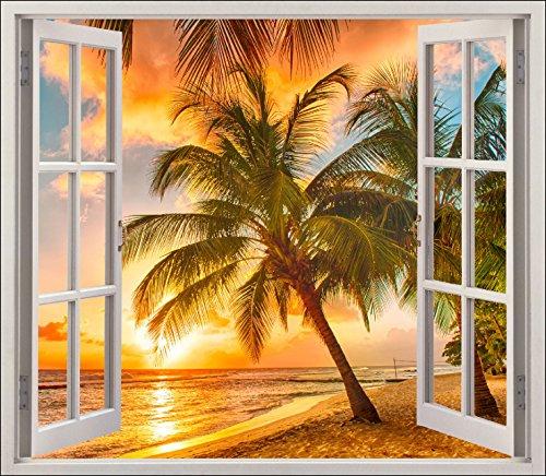 Adesivo trompe l'oeil, le finestre tropiques rif. 5478, 80x70cm