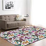 CHAOSE Leichte Weiche Polyester-Baumwolle Bedruckte Fläche Teppich Bodenmatte Warm und schön Für Wohnzimmer und Schlafzimmer (Style 9, 80 x 50 in(203.2 x 147.3 cm))