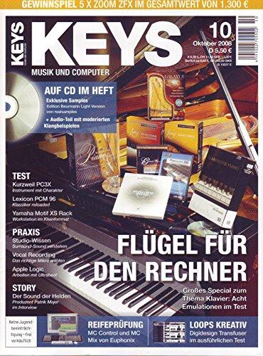 Keys 10 2008 mit CD - Klavier Emulationen für den Rechner - Exklusive Samples auf CD - Personal Samples - Free Loops - Audiobeispiele