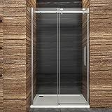 Dusche Duschkabine Duschabtrennung 100x195cm Schiebetür Duschtür Duschwand aus Sicherheitsglas
