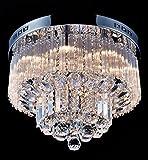 SaintMossi® Modern Unterputzmontage Wohnzimmer Kristall Deckenleuchte Kronleuchter 12 X G9 Lampenfassung Länge 40cm X Höhe 25cm X Breite 40cm