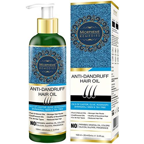 Morpheme Anti-Dandruff Hair Oil (Castor, Olive, Rosemary, Bhringraj, Neem & Tea Tree) 120ml