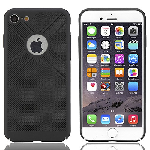 iPhone 6 / 6S Coque, Vandot Dur PC Plastique Etui Cool Créatif Design Thermique Induction Housse Décoloration Cover Couverture pour iPhone 6S Plastic Matte Case Anti-Scratch Chocs Résistant Hull Shell Heat dissipation-Noir