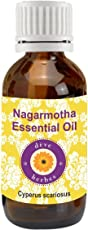 Deve Herbes Pure Nagarmotha Essential Oil 5ml(Cyperus scariosus) 100% Natural Therapeutic Grade Steam Distilled