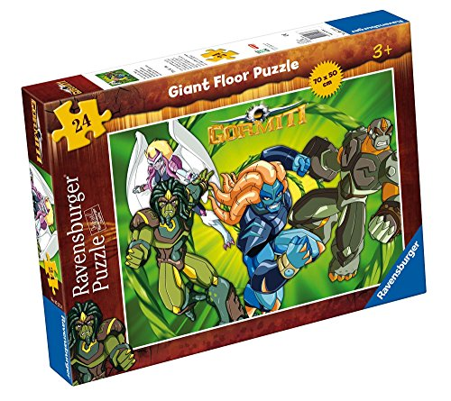 Ravensburger 05273 - Gormiti: The owners of nature (floor puzzle 50 x 70 cm) - Puzzle for children 24 pieces