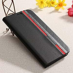 Grafins Fashion PU Leather Flip Cover for Lenovo K4 Note (Black)