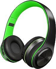 Alitoo Cuffie Bluetooth Wireless,Stereo Senza fili Pieghevole Over Ear Headphone con Microfono Cancellazione del rumore per iPhone, PC, Tablet, Android,MP3 (Black&Green)