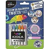 Maquillage kit créatif pour décorer visage les crayons de couleurs + paillettes + applicateur