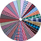 Grannycrafts 36pcs 20x 30cm top in cotone stampato Craft Fabric Bundle piazze patchwork stampa pelucchi panno tessuto tessuto cucito fai da te scrapbooking quilting 30pcs Yarn-dyed Checks