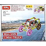 Educational Toys And Building Blocks – Mini Van, Mini Truck And Many More Robotics Toy For Kids/ Line Block Toy Making/ Brain And Mind Development Toys/ Construction Toys For Kids/ Creative Toy Making For Children/Educational Learning Toys/ Age - 7