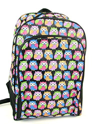 womens-girls-animal-tiger-zebra-owl-backpack-school-bag-rucksack-handbag-bp-20-fi-100-owl