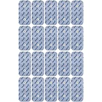 20 Elektroden-Pads 10x5cm passend zu Compex EMS- & TENS- Geräten mit Druckknopf Snap Anschluss.