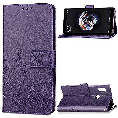 Funda Xiaomi Mi A2 / 6X, LAGUI Los Adornos Bien Definidos y Grabados Carcasa Tipo Libro, de ranuras para tarjetas y soporte horizontal y solapa con cierre magnético, púrpura