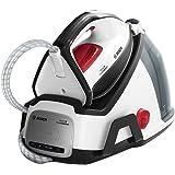 Bosch EasyComfort Dampfbügelstation TDS6040, 5,8 bar Dampfdruck, 380g Dampfstoß, kein Vorsortieren, eine Einstellung für alle Textilien, Abschaltautomatik, 2.400 Watt, schwarz/weiß