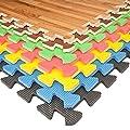 Interlocking EVA Foam Floor Mats And Edges - Playmat - Gym Tiles - Childrens Play Area Flooring Set - cheap UK light shop.