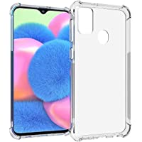 Amazon Brand - Solimo Mobile Cover (Soft & Flexible Shockproof Back Case with Cushioned Edges) for Samsung Galaxy M21 / M30s (Transparent)
