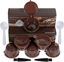 Lictin 3 Pack Cápsulas Filtros de Café Recargable Reutilizable para Cafetera Dolce Gusto Resistente Más de 150 Usos de Sustitucion de Cápsula de Café Dolce Gusto