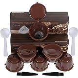 Lictin 6 Pcs Capsules Rechargeables à Cafe Compatibles avec les Machines Nescafe Dolce Gusto comme Mini Me, Piccolo, Genio Es