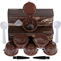 Lictin 6 Pcs Capsules Rechargeables à Cafe Compatibles avec les Machines Nescafe Dolce Gusto comme Mini Me, Piccolo…