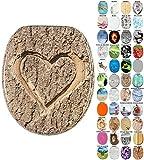 Abattant WC - Grande sélection - Finition de Haute qualité - Charnières Robustes - Fixation Facile (l'amour Vrai)