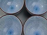 6 x Reisschale Ø 12,7cm / Servierschale Schale mit japanischem Tokusa Muster