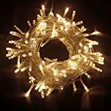 PMS 50/100/200/300/400/500 LED Battery Power Operated String Fairy Lights Christmas Xmas Party (Warm White, 200 LEDs)