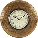 [Sponsored Products]Swagger Flower And Leaf Designer Brass Vintage Wall Clock