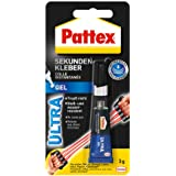 Pattex Secondelijm Ultra Gel, extra sterke en flexibele superlijm, stoot- en waterbestendige secondelijm gel voor bijv. rubbe