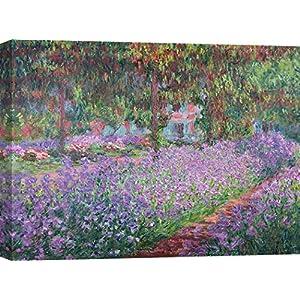 "Kunstkarte Claude Monet /""Der Garten des Künstlers in Vétheuil/"""