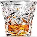 Diamond Cut Whiskey Glasses, Scotch Glasses By Ashcroft - Set Of 2. Unique, Elegant, Dishwasher Safe, Glass Liquor or Bourbon Tumblers. Ultra-Clarity Glassware.