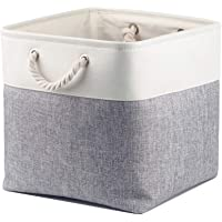Mangata Cube de Rangement Tissu 30 x 30 x 30 cm, Panier Cube de Rangement, Boite de Rangement Pliable pour Jouets…